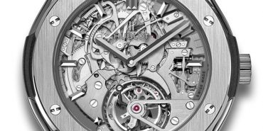 Hublot Classic Fusion Tourbillon Cathedral Minute Repeater Titanium 504.NX.0170.LR Manual winding Titanium case Leather bracelet Men's watch/Unisex 120 h power reserve Sapphire Glass Silver dial Fold clasp Minute Repeater Tourbillon