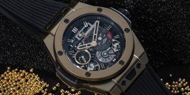 Hublot Big Bang Meca-10 414.MX.1138.RX Manual winding Rubber bracelet Black dial Skeletonized Limited Edition