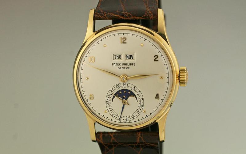 Patek Philippe Perpetual Calendar 5320G-001 Automatic White gold Crocodile skin Men's watch/Unisex Sapphire Glass Champagne