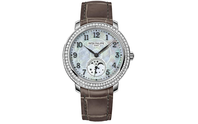 Patek Philippe Geneve Complications 4968G-010 Maunal winding White gold case Crocodile skin bracelet Ladies' watch Sapphire glass Mother of Pearl dial Arabic numerals